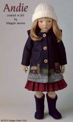 Andie16.5 Inch Tall Felt DollEdition Size: 70Created in 1999