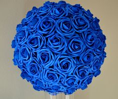 ROYAL BLUE Luxury Flower Ball wedding pomanders by KimeeKouture                                                                                                                                                                                 More