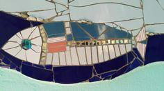 Mosaic Fish. Mosaic Wall Art. By Julia Gurwicz y Ricardo Stefani.