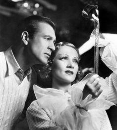 "kasinski: "" Gary Cooper and Marlene Dietrich look at footage from Desire - 1936 """