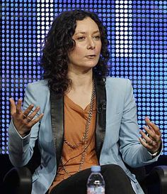 """Sara Gilbert   Sara-gilbert Sara Gilbert, who made a name for herself in Hollywood as daughter Darlene Conner on a decade's worth of """"Roseanne,"""" came out publicly about her partner and her sexuality Thursday at a panel discussion for her upcoming CBS show """"The Talk."""""""