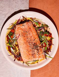 The US food superstar's fuss-free, slow-roasted salmon is ideal for quick entertaining