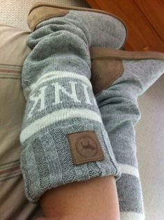 Grey feet warmers!