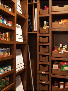 cool pantry drawers and storage spaces