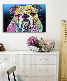 Look at this The Bulldog Wrapped Canvas on #zulily today!