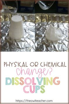Determining physical and chemical changes is exciting, but when you dissolve cups with acetone, it becomes a challenge! Engage your students with this science activity perfect for changes with matter!