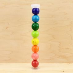 Rainbow Assortment Gumball Tube... getting these for E's party favors
