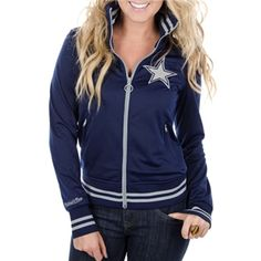 Dallas Cowboys Womens Mitchell & Ness Vintage Track Jacket | Dallas Cowboys Clothing | Dallas Cowboys Store - Dallas Cowboys Pro Shop
