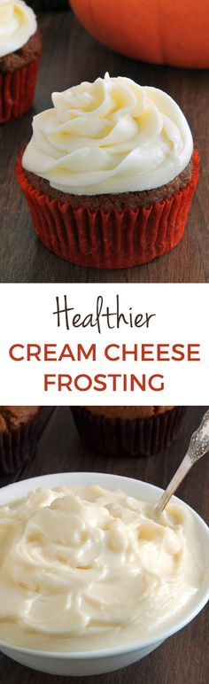 Healthier Cream Cheese Frosting (that's pipeable!) with only a fraction of the sugar used in traditional recipes.