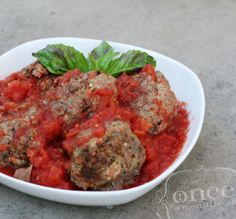 Paleo Crockpot Meatballs - whole30, freezer meals, slow cooker, oamc