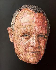 Mosaic Portrait, Portrait Art, Portraits, Marble Mosaic, Mosaic Tiles, Mosaic Artwork, Recycled Art, Photo Art, Stained Glass