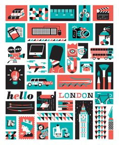 I designed a series of Icon/illustrations commissioned by Kaleidoscope International Creative Festivals »  happening in London. This will be on posters, flyers, tshirts, etc. Awesome speakers, worth a follow.