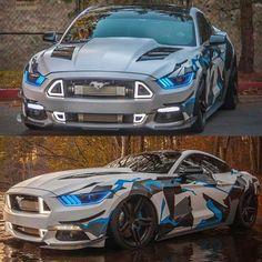 A tech noir mustang. I can dig it Luxury Sports Cars, Top Luxury Cars, Cool Sports Cars, Cool Cars, Shelby Mustang Gt500, Mustang Bullitt, Mustang Cars, Ford Mustang Gt, Roush Mustang