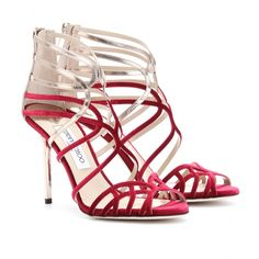 Fendi – COLOR-BLOCKED STRAPPY LEATHER SANDALS - @WOMENSHOES