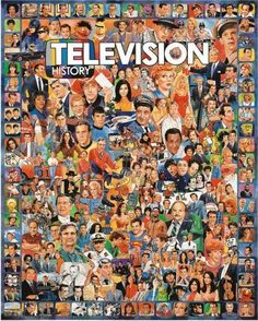 White Mountain Puzzles Television History - 1000 Piece Jigsaw Puzzle MEMORABLE TV STARS & MOMENTS:  Featuring a collage of more than 250 TV stars and unforgettable moments in American television, this colorful puzzle makes for a fantastic TV room wall art piece. 1000 PIECES OF FUN:  Thrill the entire family and provide hours of fun and entertainment building this incredible puzzle together. An ideal pastime for everyone to enjoy! ABOUT THE ARTIST:  Working out of his home stu