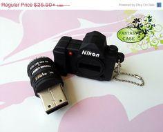 SALE A Mini Dslr Nikon Camera Usb Flash Drive 8Gb , Flash Drive 16 Gb , Cute Usb Flash Drive , Accessories
