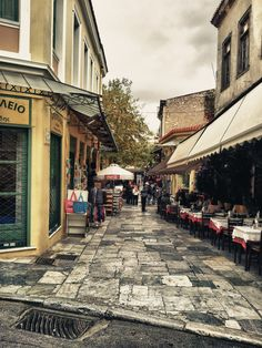 Plaka, Athens #travel #travelinspiration #travelphotography #athens #YLP100BestOf #wanderlust Visit Greece, Athens Greece, Travel Bugs, Pavement, Greece Travel, Historical Sites, Places Ive Been, Travel Inspiration, Cool Photos