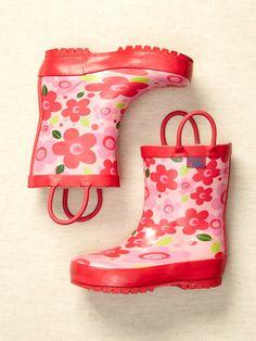 Girls: Printed Rain Boot