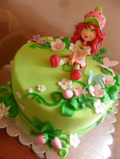 Cute Strawberry Girl Cake - I would have loved this! I still might :)