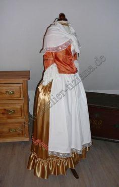 Rokoko Kleid mit Fichu.