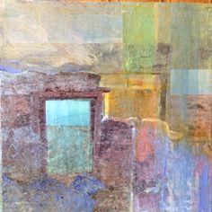 Threshold in a dream l, mixed media, 20x20cm.