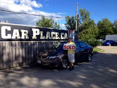 Happy Customers Bessy Bonilla Burgos and Juan Fuentes Campos, Picking Up Their New 2013 Honda Civic from That Car Place in London Ontario #happycustomers #sold #thatcarplace #honda #2013civic
