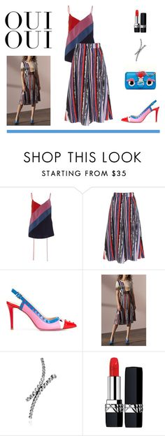 """""""Untitled #1023"""" by livnd ❤ liked on Polyvore featuring Prabal Gurung, Fendi, Ryan Storer, Oui, Christian Dior and modern"""
