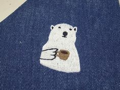 Enbroidery white bear / シロクマ刺繍