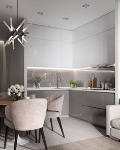 Incredible Art Deco Design You Can Try To Display Exhibits - Page 10 of 22 Kitchen Room Design, Modern Kitchen Design, Home Decor Kitchen, Interior Design Kitchen, Luxury Home Decor, Cheap Home Decor, Modern Kitchen Cabinets, Minimalist Home Interior, Deco Design