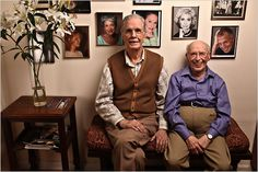 older gay couple, I think in love.