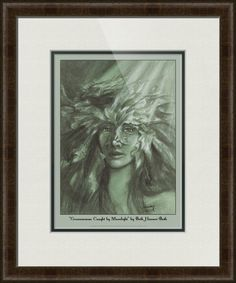 """""""Greenwoman+Caught+by+Moonlight""""+by+Beth+Hansen-Buth,+Minneapolis+//+Deep+in+the+woods,+a+spirit+protects+the+birds+animals+and+trees.+She+is+the+Greenwoman,+a+goddess+and+guardian+of+the+wood+and+sister+to+the+Greenman.+Created+in+Pencil+&+Pastel+by+Beth+Hansen-Buth,+the+original+is+in+a+private+collection.+This+is+a+limited+edition+of+a+tot...+//+Imagekind.com+--+Buy+stunning+fine+art+prints,+framed+prints+and+canvas+prints+directly+from+independent+working+artists+and+photographers."""