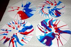 """Salad Spinner """"Fireworks"""" {Tutorial} for Fourth of July"""