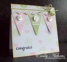 Baby Girl Pennant-IC333 by stampingout - Cards and Paper Crafts at Splitcoaststampers