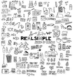 Some of the raw Real Simple Illustrations for January 2011 Issue. | Flickr - Photo Sharing!