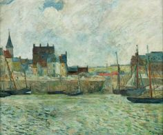 Paul Gauguin (French, 1848 - 1903)  Harbour Scene, Dieppe c.1881-1885   Manchester City Galleries, England