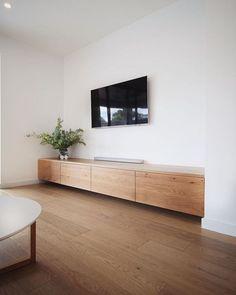 Living Room Wall Units, Living Room Interior, Home Living Room, Living Room Designs, Living Room Decor, Built In Tv Cabinet, Built In Tv Unit, Floating Tv Cabinet, Floating Tv Unit
