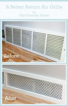 The Friendly Home: A better looking return air grille.