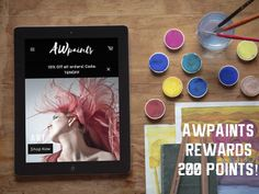 Register with AWpaints today and be automatically enrolled in AWpaints rewards! Get 200 points for signing up!  AWpaints.com