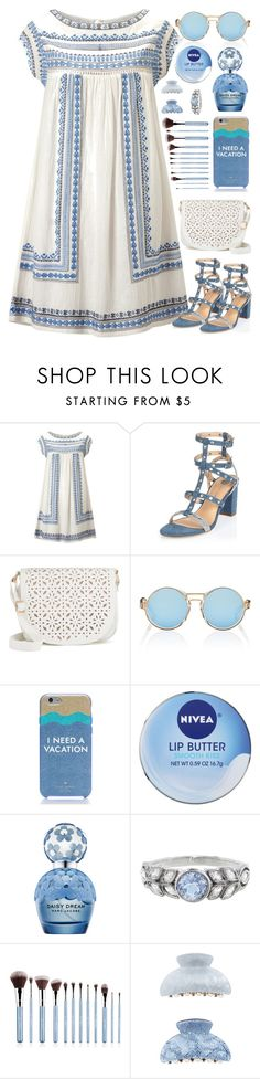 """""""BLUE // itsybitsy62"""" by itsybitsy62 ❤ liked on Polyvore featuring Star Mela, River Island, Under One Sky, Finlay & Co., Kate Spade, Nivea, Marc Jacobs, Cathy Waterman and New Look"""