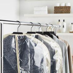 Natural Cotton PEVA Single Garment Bags Pantry Storage, Closet Storage, Storage Bins, Closet Organization, Freezer Organization, Diy Organisation, Kitchen Organization, Stacking Bins, Hanging Closet Organizer
