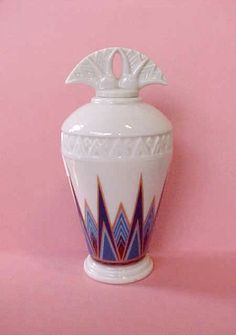 Porcelain Art Deco Perfume Bottle