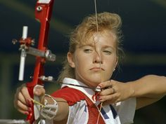 The youngest member of the entire USA Olympic team at Seoul 1988, 14-year-old Denise Parker won bronze in the women's archery team event and came 21st in the individual competition.  I went to high school with this girl!  She truly was an amazing athlete.