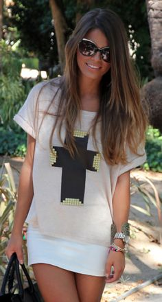 Embellished tees.we have a sweater very similar to this at Luxe Boutique in Cookeville TN. I love it!