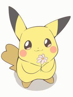 Looks like Pikachu has a present for you! Pokemon Comics, Pokemon Fan Art, Cool Pokemon, Pokemon Cards, Pikachu Drawing, Pikachu Art, Pokemon Mignon, Cute Pokemon Pictures, Cute Pokemon Wallpaper