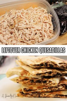 Chicken and Black Bean Quesadillas Leftover Chicken Recipes, Best Chicken Recipes, New Recipes, Favorite Recipes, Easy Recipes, Delicious Recipes, Yummy Food, Healthy Recipes, Healthy Foods
