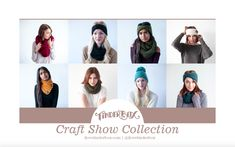 All the hats, headbands, and scarves you need in one e-book to crush your sales at craft shows! Also a great collection for beginner crocheters. Beginner Crochet, Crochet Patterns For Beginners, Crochet Designs, Headbands, Scarves, Essentials, Seasons, Book, Hats
