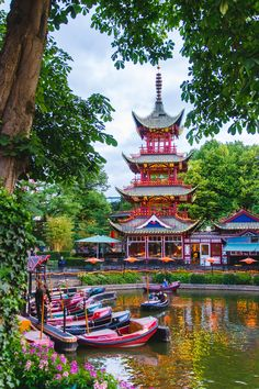 I'm not a fan of theme parks - at all - but there was something about this one that just captured my heart Copenhagen Travel, Copenhagen Denmark, Stockholm Sweden, Tivoli Gardens Copenhagen, Places To Travel, Places To See, Wonderful Places, Beautiful Places, Travel Around The World