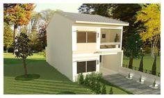 diseños de casas de dos plantas pequeñas