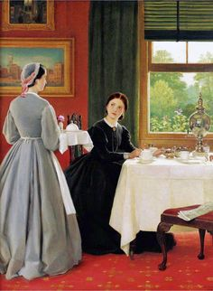 Afternoon Tea  1865  George Dunlop Leslie  Repository unknown  Image via the Athenaeum