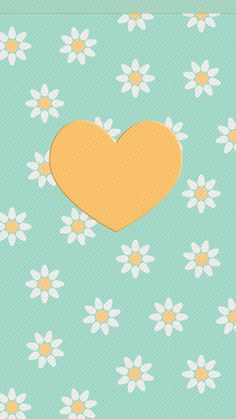 Daisies and Heart wallpaper